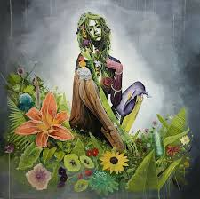 mother earth female portrait brian kirhagis treason gallery