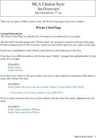 Mla Citation Style An Overview Mla Handbook 7 Th Ed Pdf