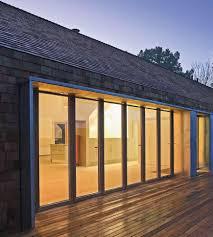 image of glass exterior door patio