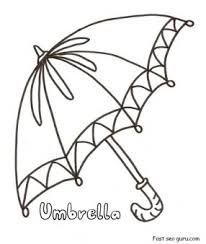 Small Picture Printable umbrella coloring in pages for preschool Printable