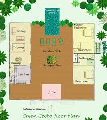 Floor plan and layout of this Thai Holiday Villa for rentThailand holiday rental villa floorplan