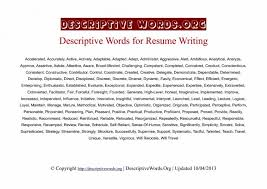 Adjectives For Resumes A Resume New Awesome 20 Strong Verbs Of