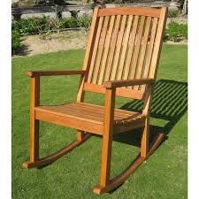 international caravan royal tahiti large outdoor wood rocking chair in brown stain