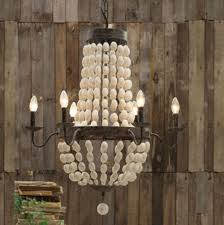 small wood chandelier