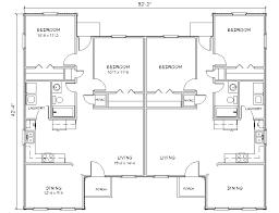 Duplex house plan J d PlanSourceDuplex J d flr plan