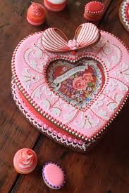 Decorative Cookie Boxes Valentine's Cookie Box and Cookie Petits Fours by Julia M Usher 16