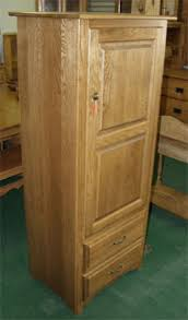 Amish Made Solid Oak Kitchen Pantry With Two Shelves And Drawers Wood Cabinet O62