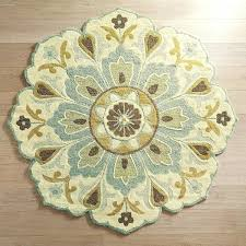 round wool rugs blue medallion 3 rug area cleaning pottery barn shedding toxic