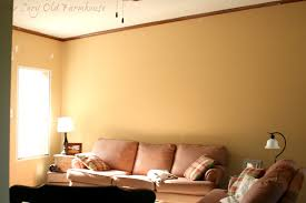Orange Paint Living Room The Cozy Old Farmhouse Paint A Thon Week