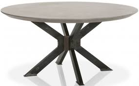 industry ash grey concrete round dining table main image