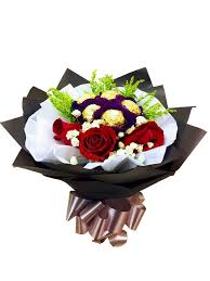 Ferrero Rocher Bouquet Designs Red Rose With Ferrero Rocher Bouquet