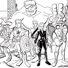 Small Picture Avengers Coloring Pages For Kids glumme