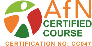 this course has been certified by the ociation for nutrition it meets afn standards for nutrition of individuals working at level 1 on the