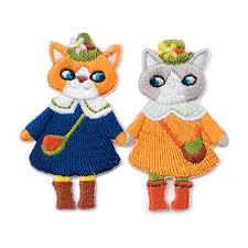 <b>1 Piece</b> Very <b>Cute Cat Embroidery</b> Patch for Baby Kids Clothes ...