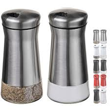 amazoncom chefvantage salt and pepper shakers set with