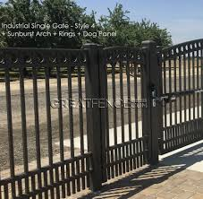 metal fence gate. Bronze Industrial Walk Gate With Arch And Rings Metal Fence