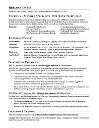 Sample Resume For Server Support Engineer Your Prospex