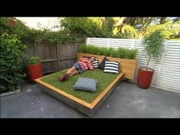 Dad Built A Bed For The Backyard, But Wait 'Til You See The Mattress
