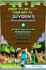 17 Free Minecraft Birthday Invitation Template 40th