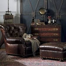 steampunk furniture. expose leather items or furniture steampunk e