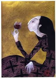 wine art by charlotte gastaut