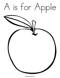 Small Picture A is for Apple Coloring Page Twisty Noodle