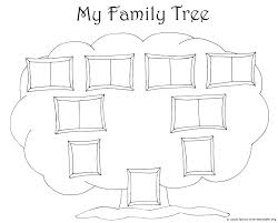 Family Tree Template Printable Drawing A Family Tree Template