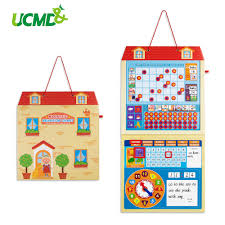 Us 41 94 40 Off Cartoon Magnetic Calendar Kids Activity Reward Behavior Chart Early Learning Educational Toys Daily Weekly Planner Schedule Memo In