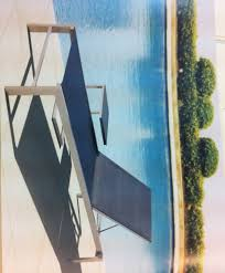 modern patio furniture. Modern Stainless Steel Patio Loungers Furniture A