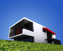 fabulous white color small home. Fabulous Small Residence Remodeling In Red And White Exterior Scheme : Sensational House Bucharest With Modern Style Minimalist . Color Home E