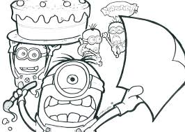 Minion Coloring Pages Free Printable Minion Coloring Pages Minion
