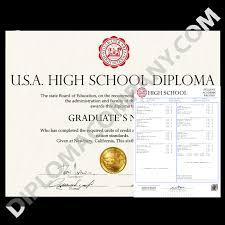 Fake Usa High School Diploma And Transcripts