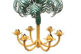 french palm tree chandelier 1930s 2
