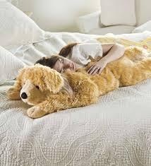 plush golden retriever body pillow