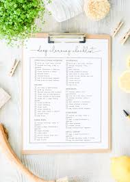 Cleaning Checklist Free Printable | A Quick Guide For Deep Cleaning