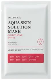 Sally's Box Aqua Skin Solution Mask Glutathione <b>Тканевая маска</b> ...