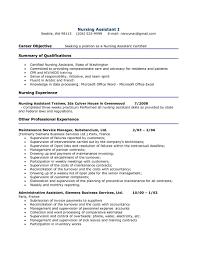 Cover Letter Cna Resume No Experience Cna Resume Examples No