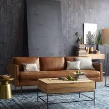 Dekalb Premium Leather Piece Sectional Warm Colors Dark