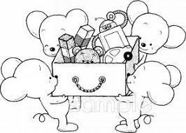 後片付け おもちゃ箱イラストなら小学校幼稚園向け保育園向けの