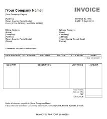 Word Invoice Template Mac Invoice Sample Template