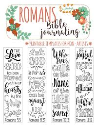 Art For Non Artists Romans Printable Bible Journaling Templates For Non Artists