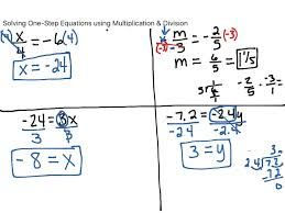 solving equations using multiplication and division worksheets math algebraic linear with simple or um