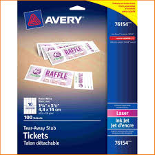 Avery Tickets Templates Avery Ticket Template Authorization Letter Pdf