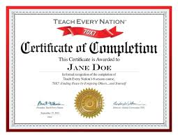 Certificates Of Completion Templates Template Template Of Certificate Of Completion