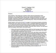 Medical Writer Resume Free PDF Template