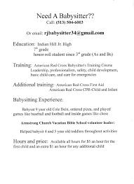 Babysitting On A Resume Babysitting Resume Sample Application Objective Teenageng Job 16
