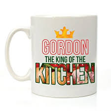 personalised the king of the kitchen mug cooking gifts for him chef gift ideas amazon co uk kitchen home