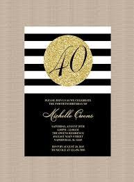 40th Birthday Invitations Milestone 40th Birthday Party Invitation Black And Gold