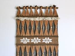shining ideas southwest wall decor layout design minimalist woven hanging brown black white southwestern long tall bohemian hand fiber art native