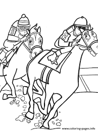 Sport Horse Racing Sba81 Coloring Pages Printable